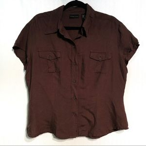 New York and Co. Linen Button Down Size XL